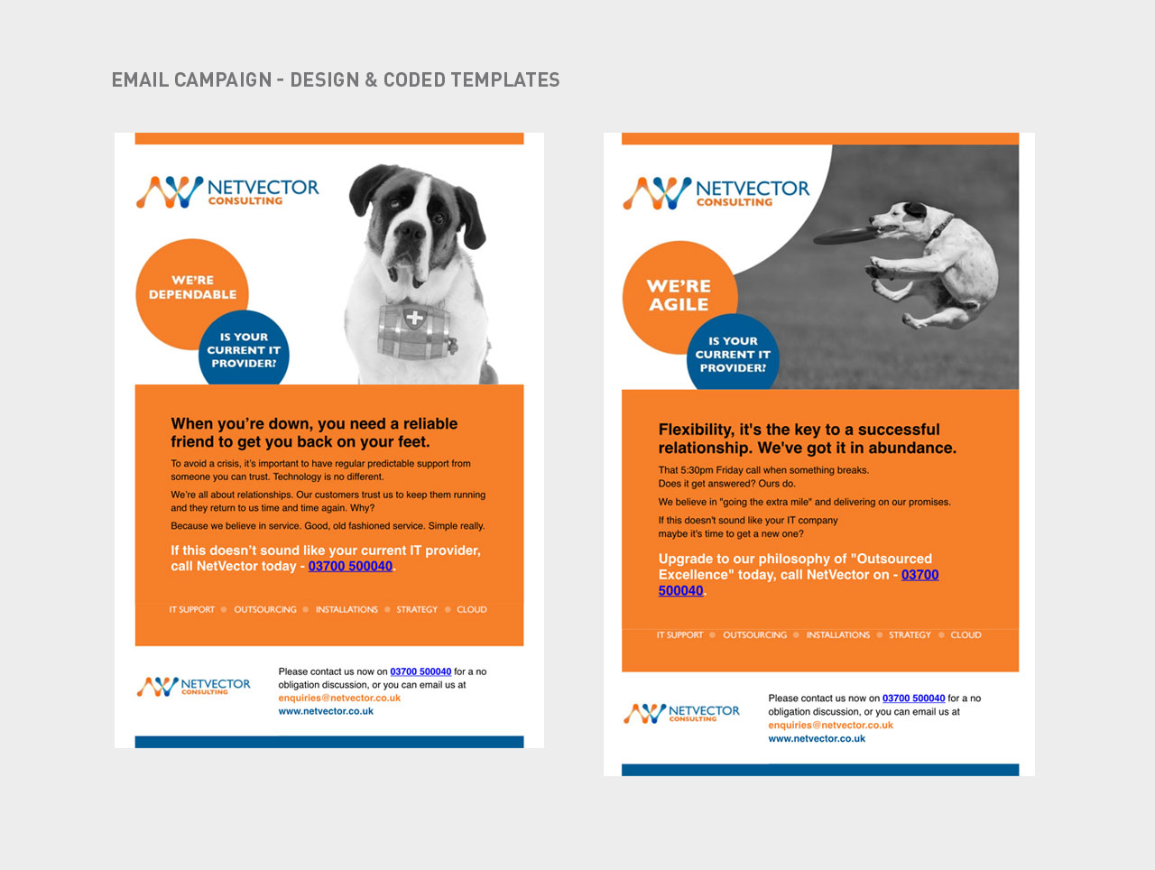 campaign mailer template - sarah medway freelance graphic designer netvector case